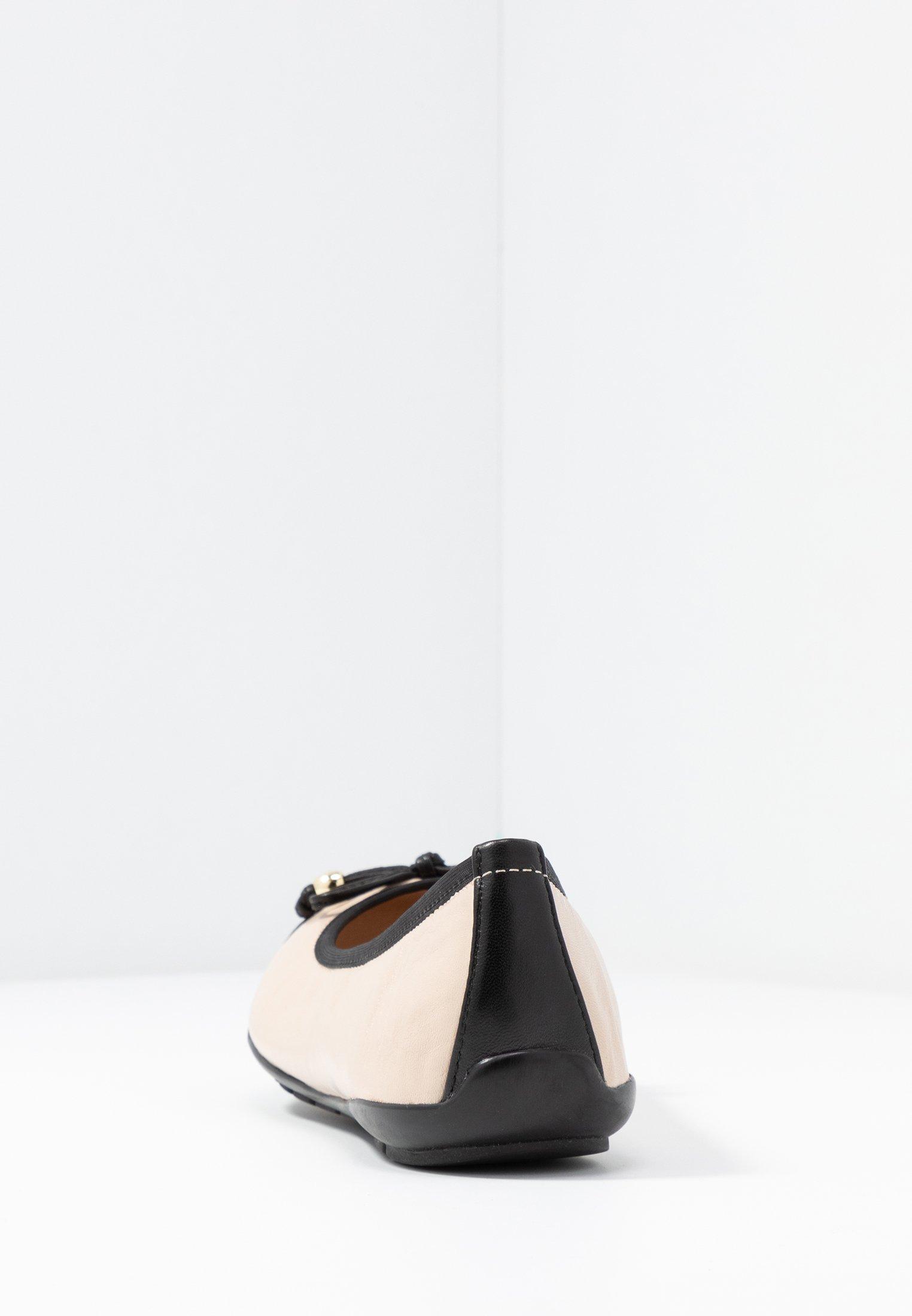 Caprice Baleriny - black/beige