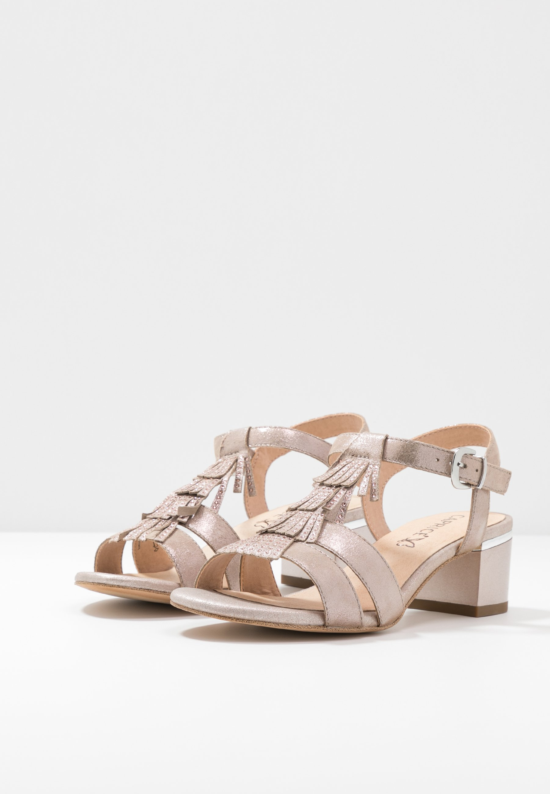 Caprice Sandales - taupe metallic