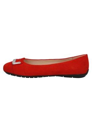 Bailarinas - red suede