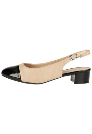 PUMPS - Slingback ballet pumps - beige/black 415