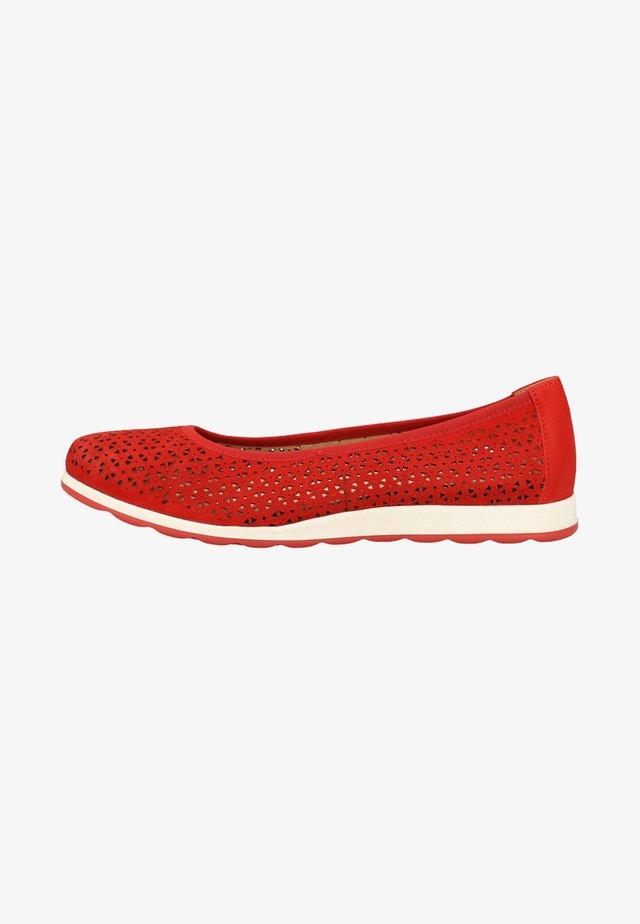 Baleriny - red