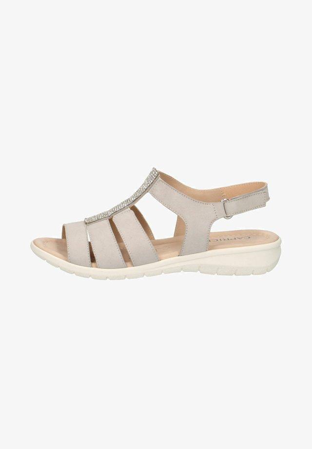 Sandaalit nilkkaremmillä - grey pearl