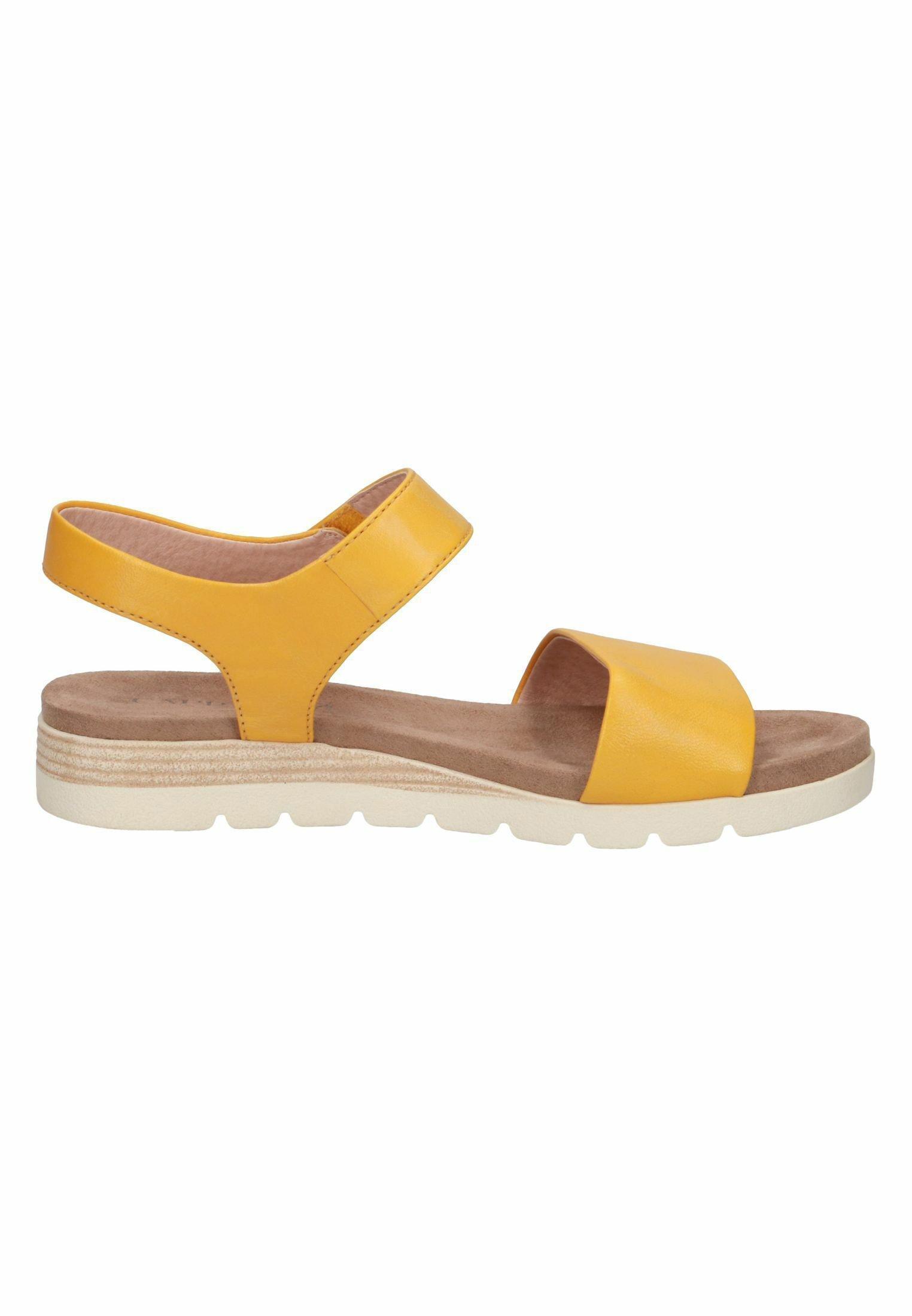 Caprice Sandalias De Cuña - Yellow