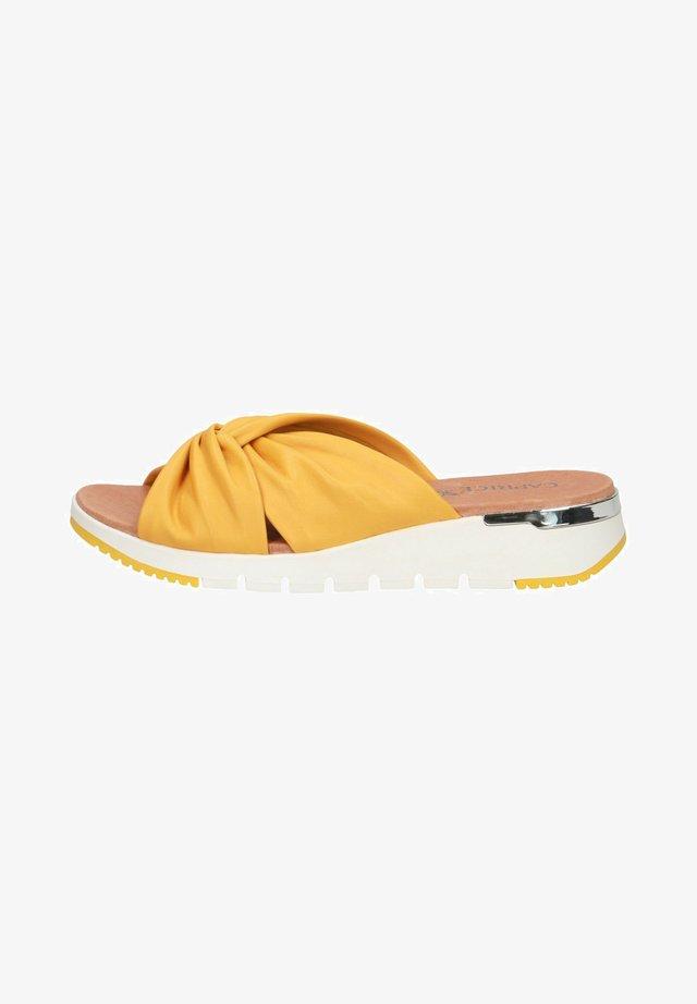 Pantolette flach - sunflower soft