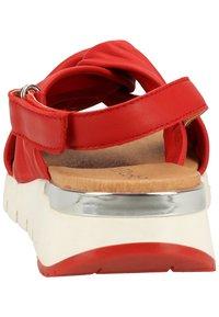 Caprice - Sandals - red softnappa 525 - 4