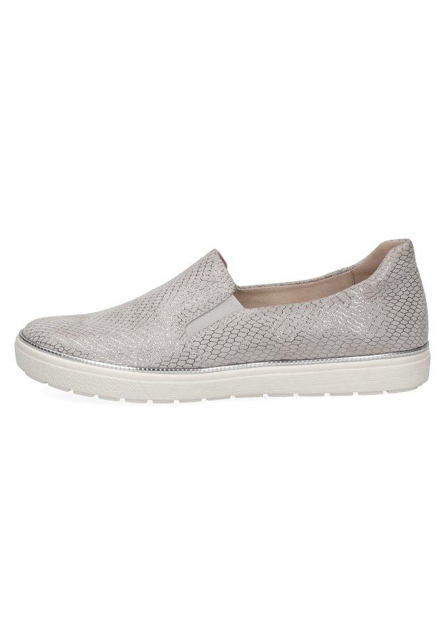 Sneakers laag - lt grey snake