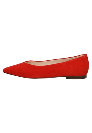 Ballet pumps - red suede
