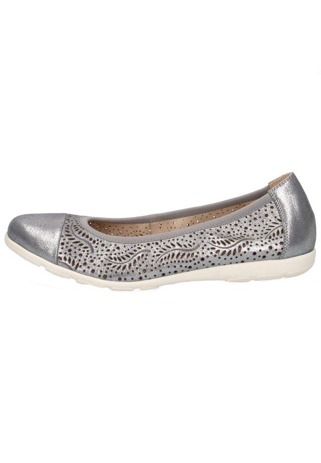 Ballet pumps - jeans metallic