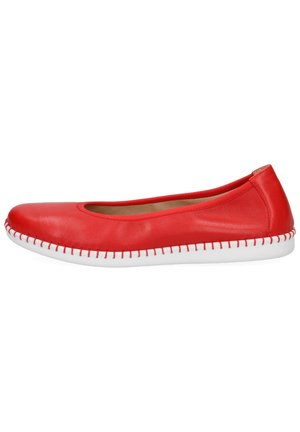 Ballet pumps - red softnappa
