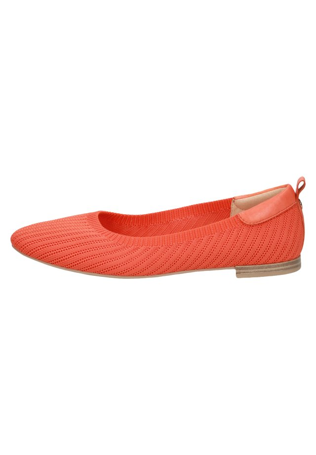 Ballet pumps - orange knit