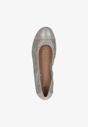 Baleriny - silver sue.met