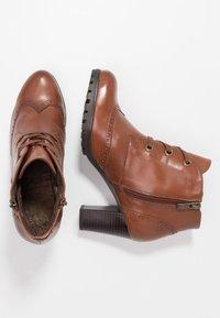 Caprice - Ankle boots - cognac - 3