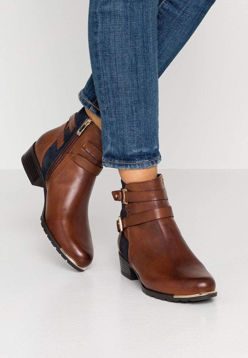 Caprice - Ankle Boot - brandy/ocean