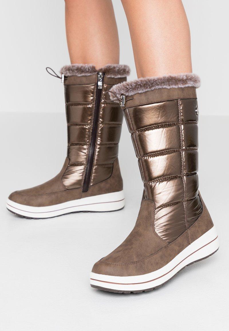 Caprice - Zimní obuv - bronce