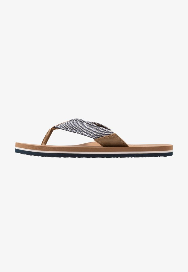 SURF - T-bar sandals - desert/navy/offwhite