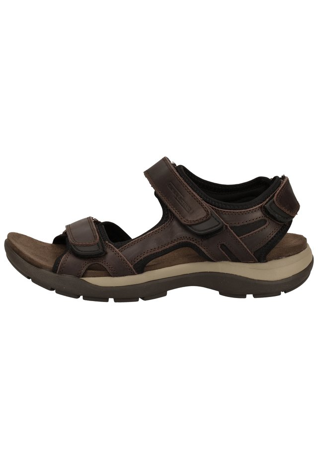 Walking sandals - mocca/ black  06