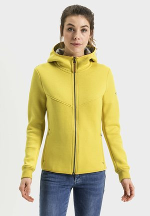 MIT HOCHGESCHLOSSENER KAPUZE - Zip-up hoodie - yellow