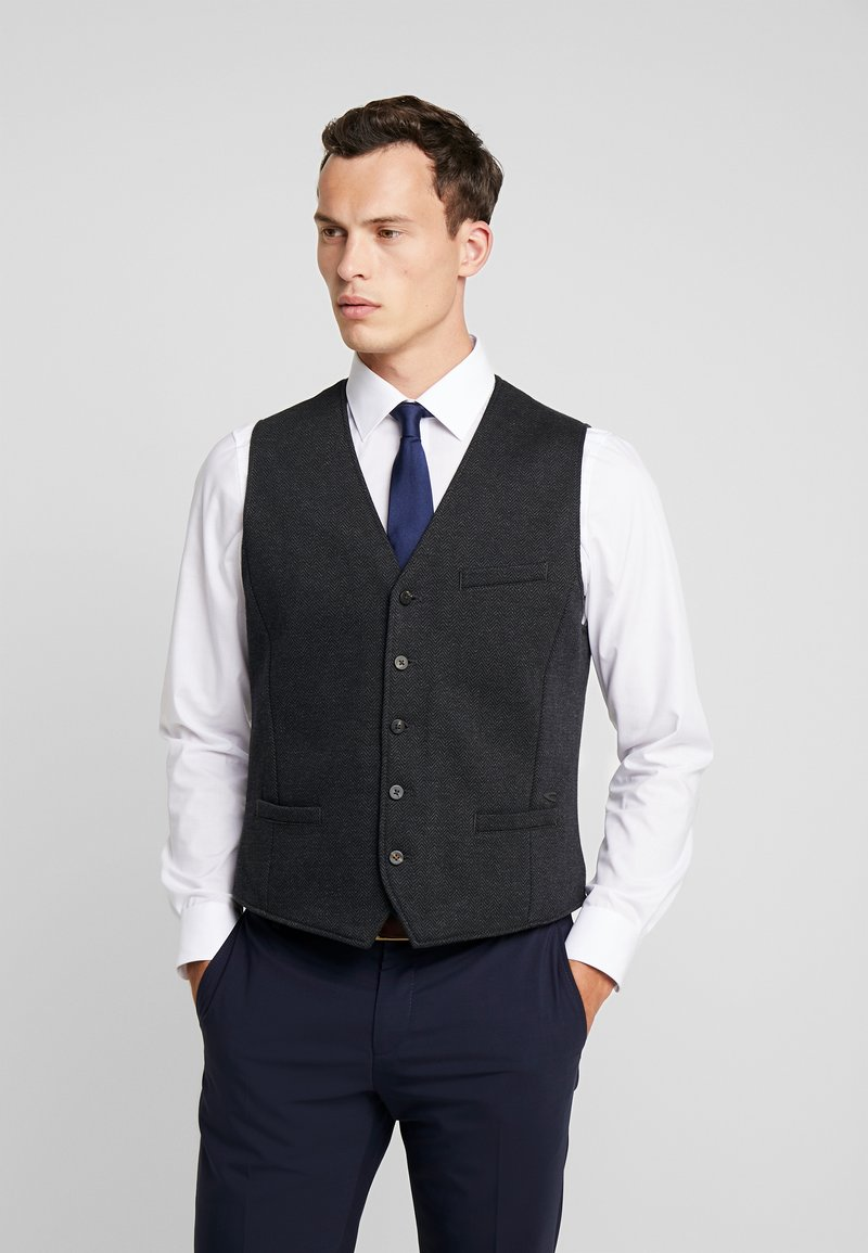 camel active - Waistcoat - anthracite