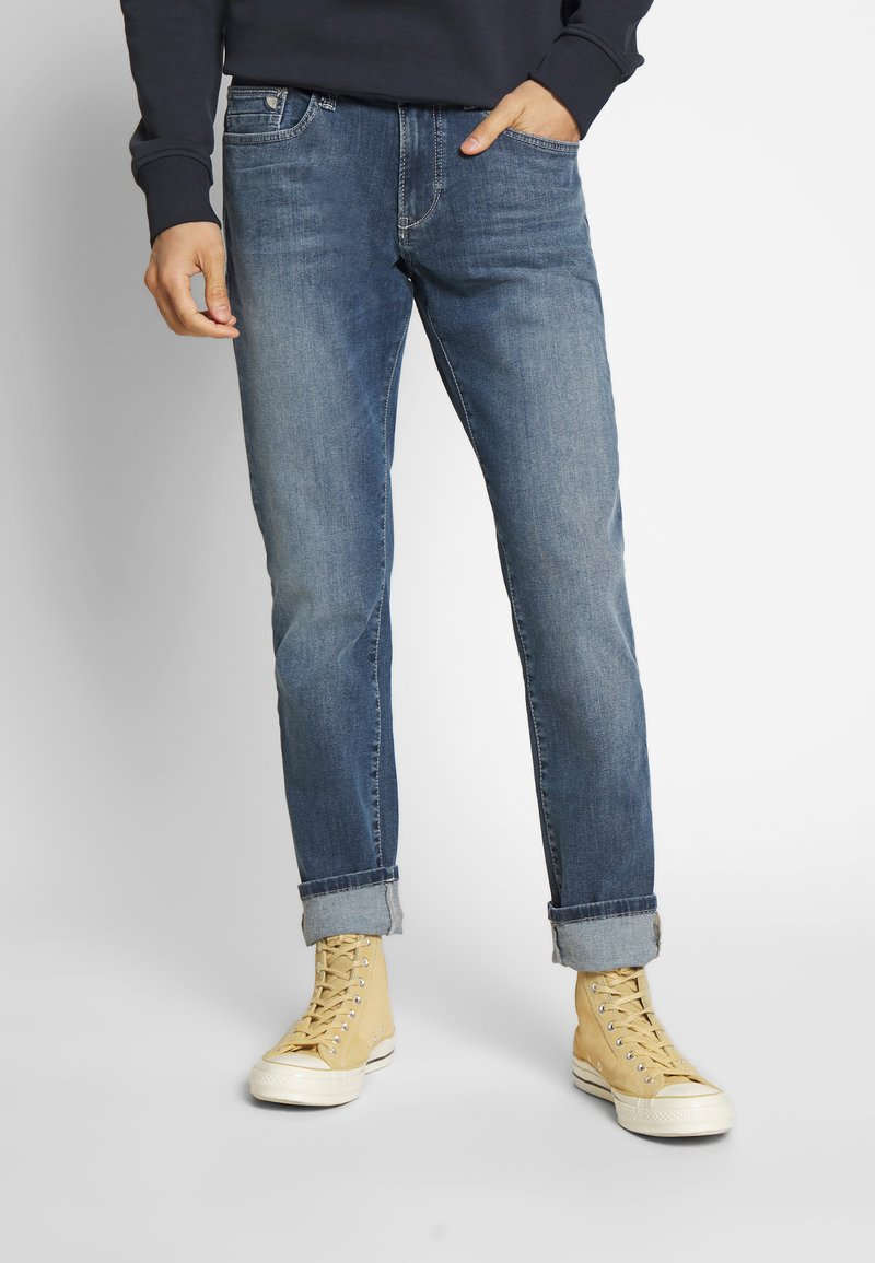 camel active - MADISON - Slim fit jeans - blue denim