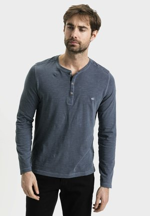 MIT HENLEY KRAGEN - Long sleeved top - steel
