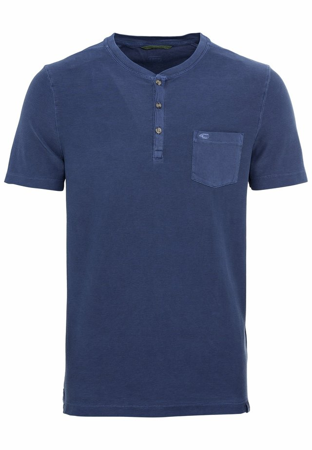 MIT HENLEY-KRAGEN - Basic T-shirt - dark blue