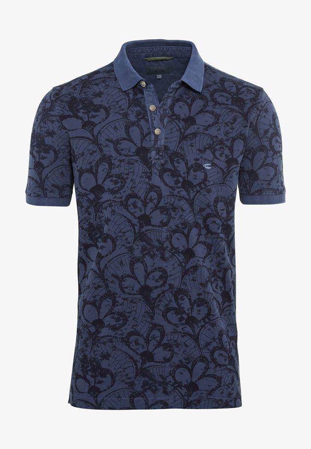 MIT ALLOVER PRINT - Polo shirt - dark blue