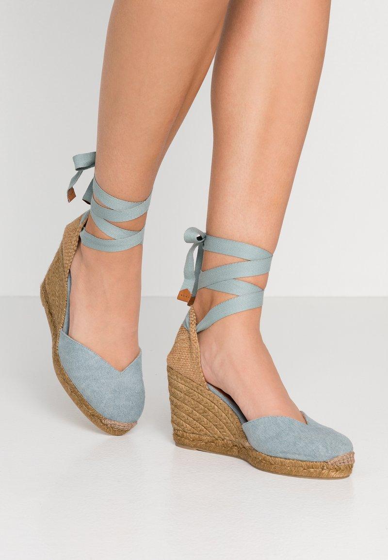 Castañer - CHIARA - Sandály na vysokém podpatku - azul rino