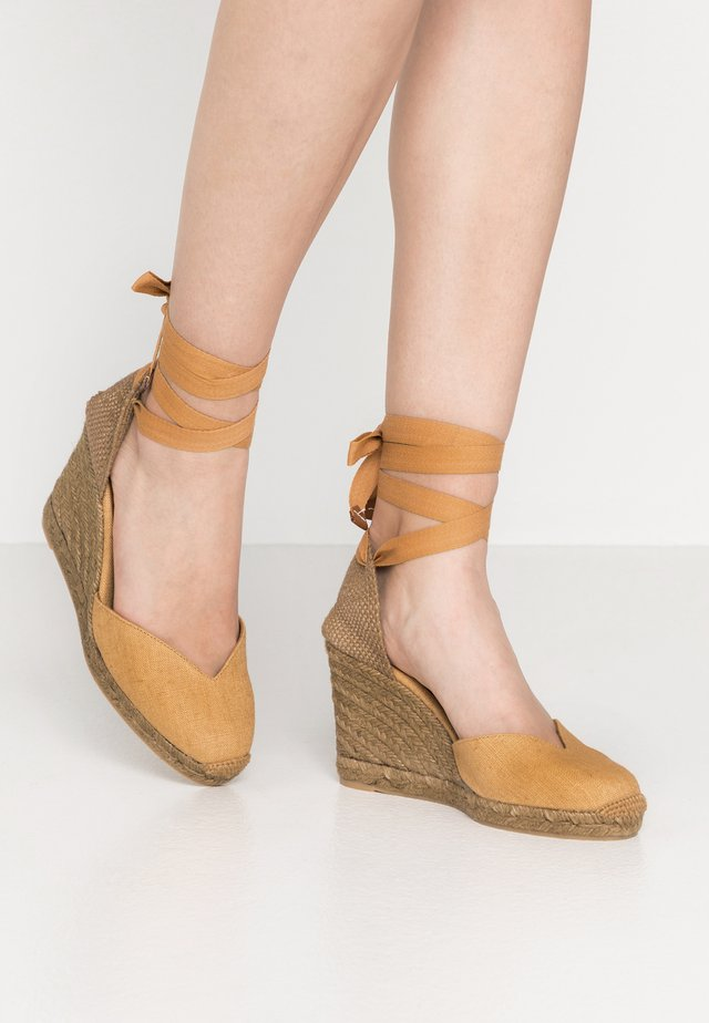 CHIARA - High heeled sandals - camel