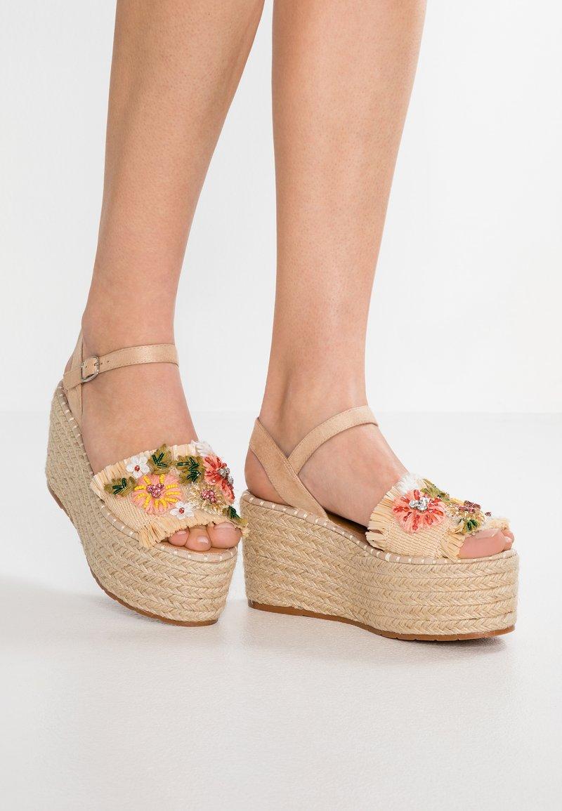 CAFèNOIR - High heeled sandals - naturale