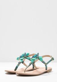 CAFèNOIR - T-bar sandals - turchese - 4
