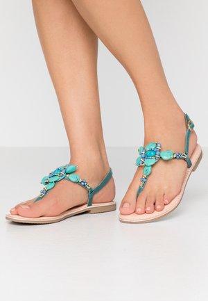 T-bar sandals - turchese
