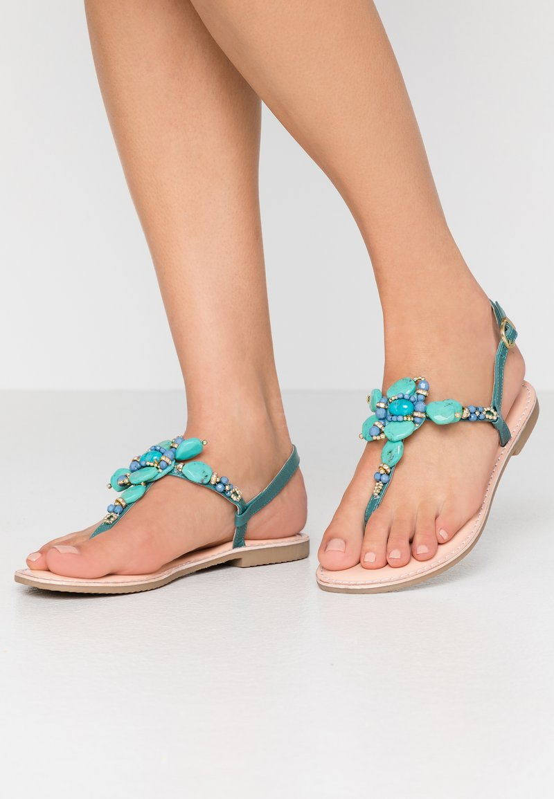 CAFèNOIR - T-bar sandals - turchese