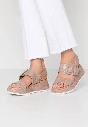 Sandalias con plataforma - taupe