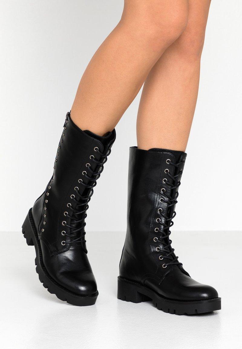 CAFèNOIR - Platform boots - nero
