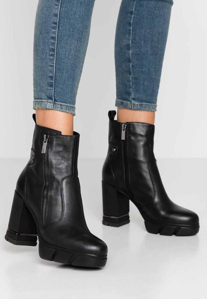CAFèNOIR - High heeled ankle boots - nero