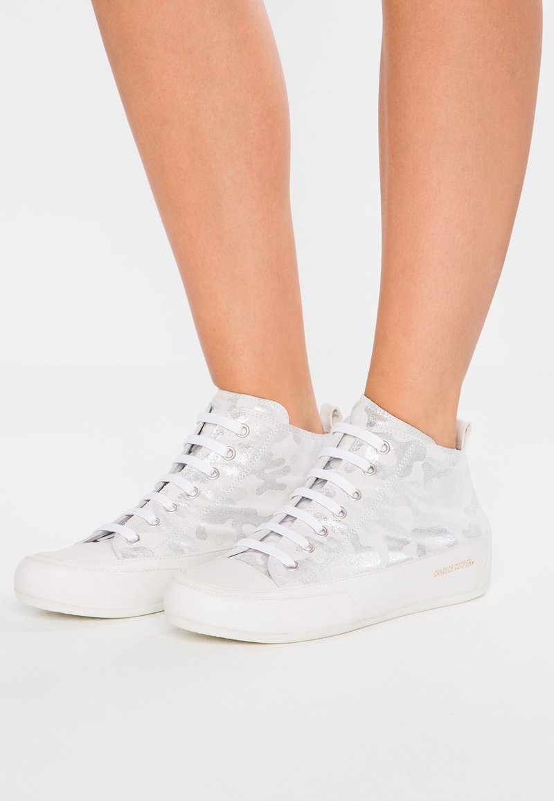 Candice Cooper - MID - Sneakers hoog - argento/base bianco