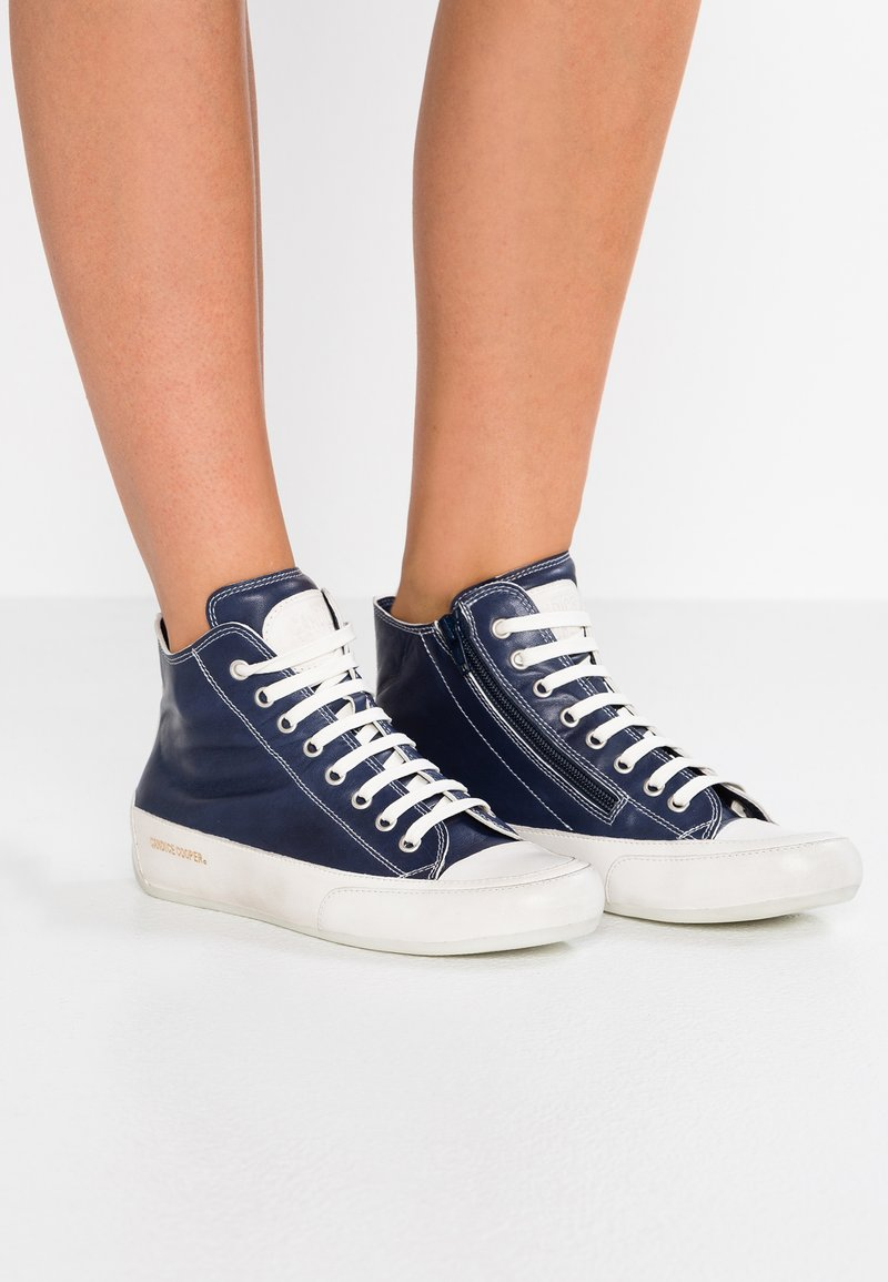 Candice Cooper - PLUS  - Sneakers high - tamp blue/base panna