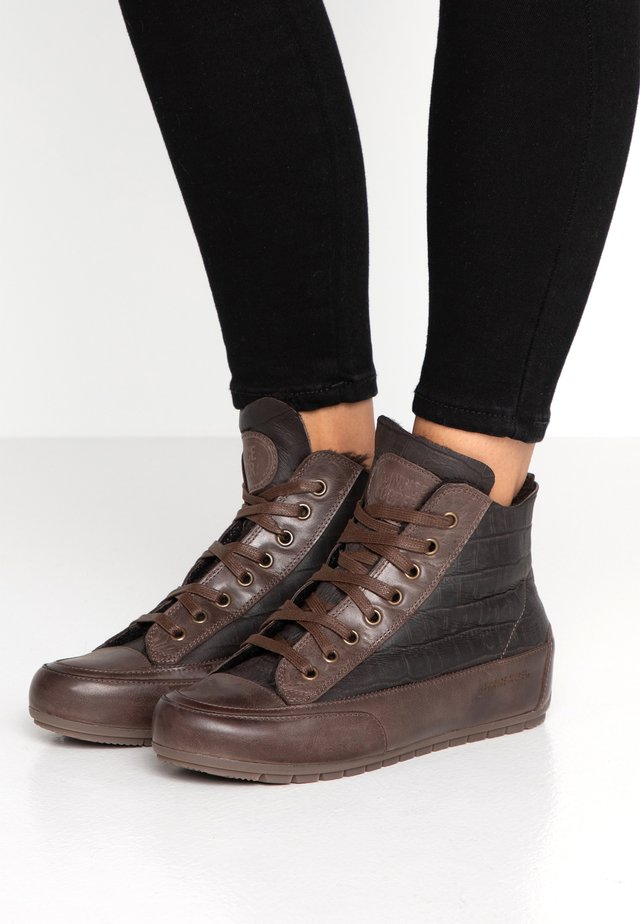 PLUS MONT - Sneakers hoog - testa di moro/laguna cacao