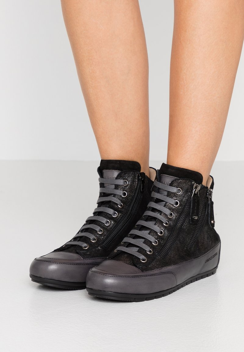 Candice Cooper - LUCIA ZIP - Sneakers high - lohan darkness/tamponato antracite