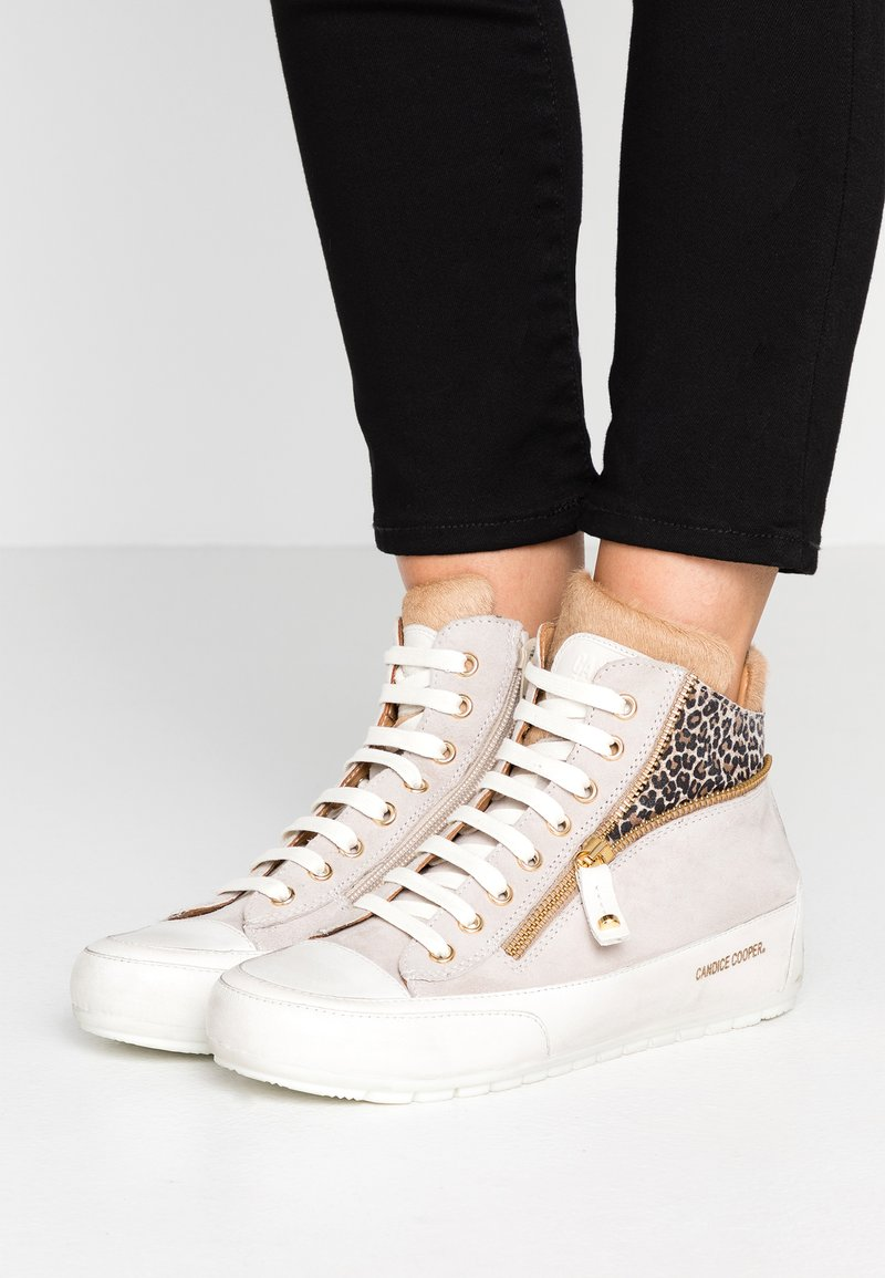 Candice Cooper - BERVERLY - Sneakers high - vintage sabbia/tamponato panna