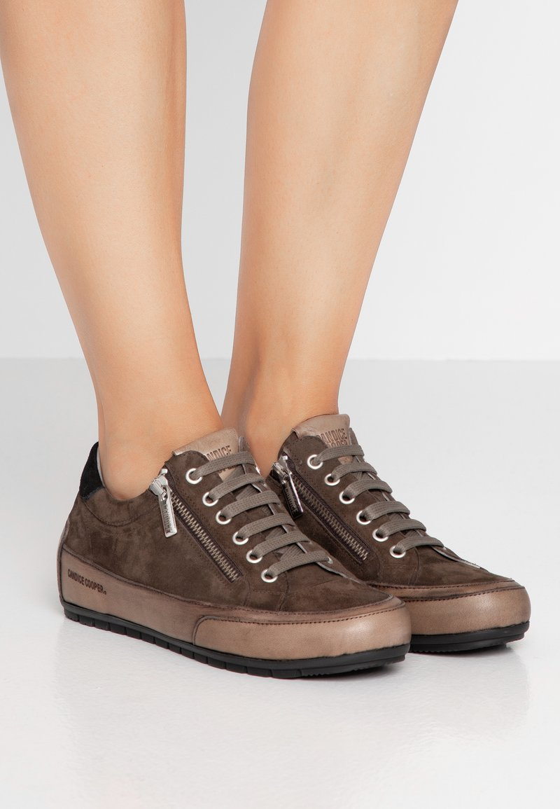 Candice Cooper - ROCK DELUXE ZIP - Sneakers - viantage oliva/tamponato militare