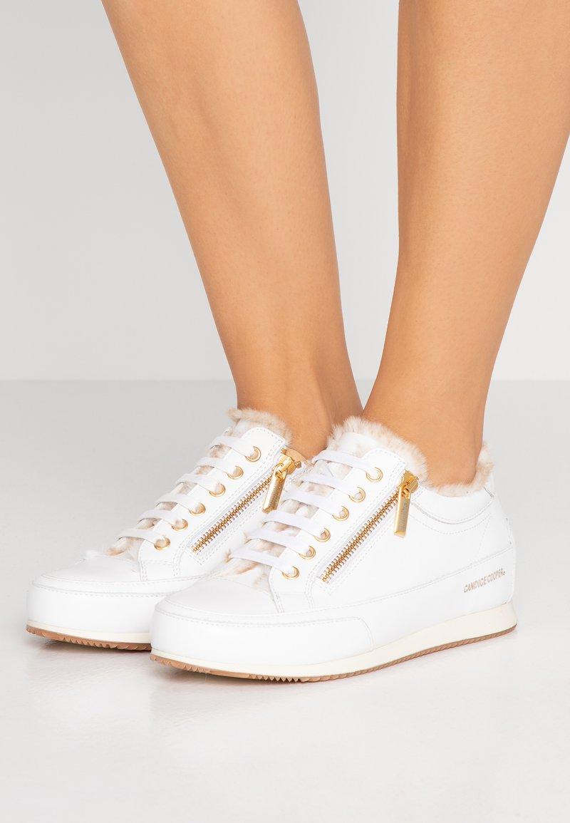 Candice Cooper - ROCK DELUXE ZIP - Sneakers laag - bianco