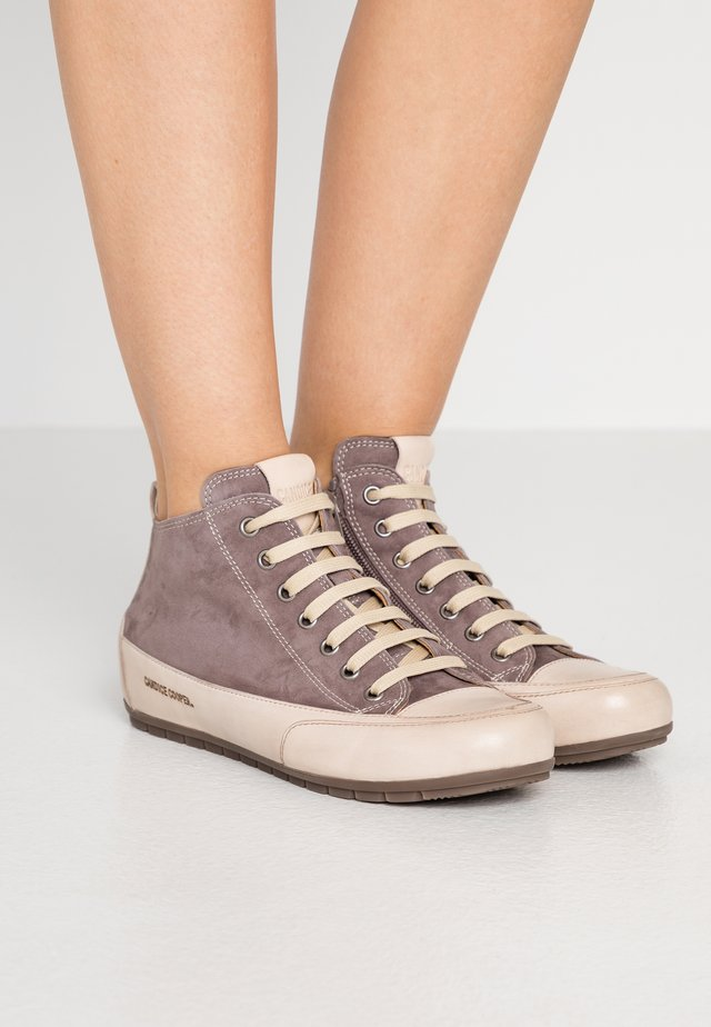 MID - High-top trainers - choco/sabbia