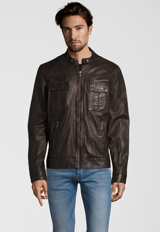 NEBRASKA  - Leather jacket - brown