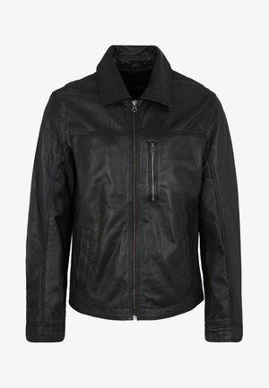 DONNI - Leather jacket - black