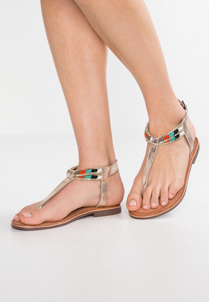 Carmela - T-bar sandals - gold