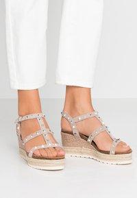 Carmela - Wedge sandals - taupe - 0