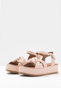 Carmela - Korkeakorkoiset sandaalit - nude - 4