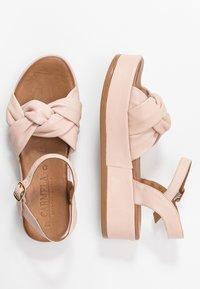 Carmela - Korkeakorkoiset sandaalit - nude - 3