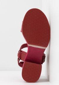 Carmela - Sandály na vysokém podpatku - burgundy - 6